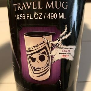 Heat reveal Nightmare Before Christmas tumbler